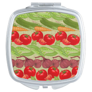 Fresh Vegetable Pattern Compact Mirrors