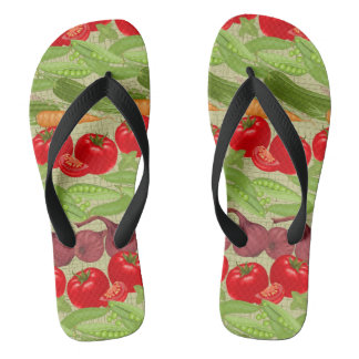 Fresh Vegetable Pattern Flip Flops