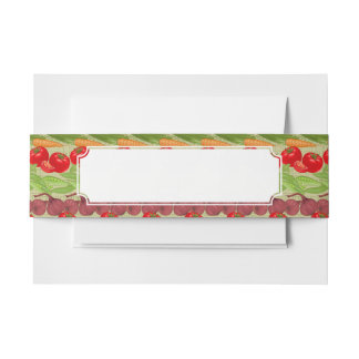 Fresh Vegetable Pattern Invitation Belly Band