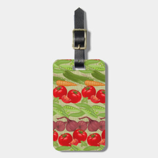Fresh Vegetable Pattern Luggage Tag