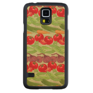 Fresh Vegetable Pattern Maple Galaxy S5 Case