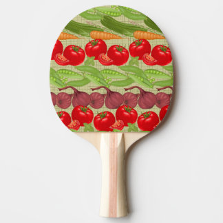 Fresh Vegetable Pattern Ping Pong Paddle
