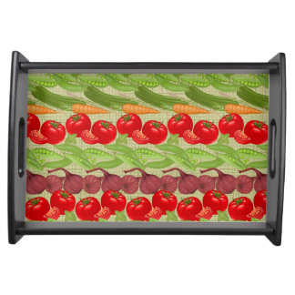 Fresh Vegetable Pattern Serving Tray