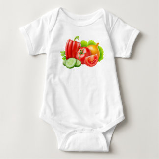 Fresh vegetables baby bodysuit