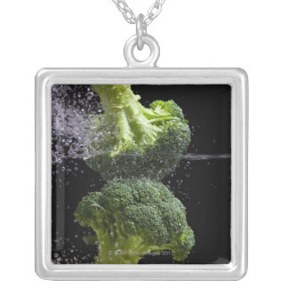 fresh vegetables & food hygiene silver plated necklace