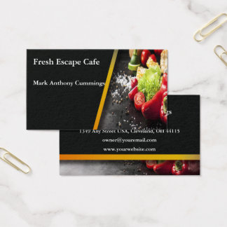 Fresh Vegetables Fresh Cafe Business Card