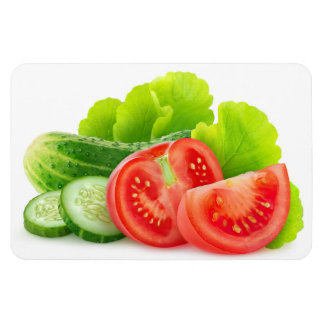 Fresh vegetables rectangular photo magnet