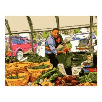Fresh Veggies at the Farmers Market Postcard