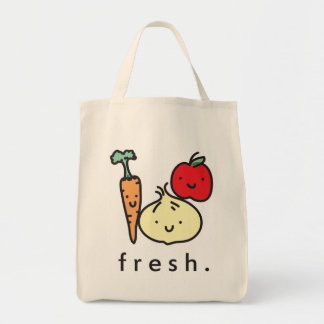 fresh veggies grocery tote bag