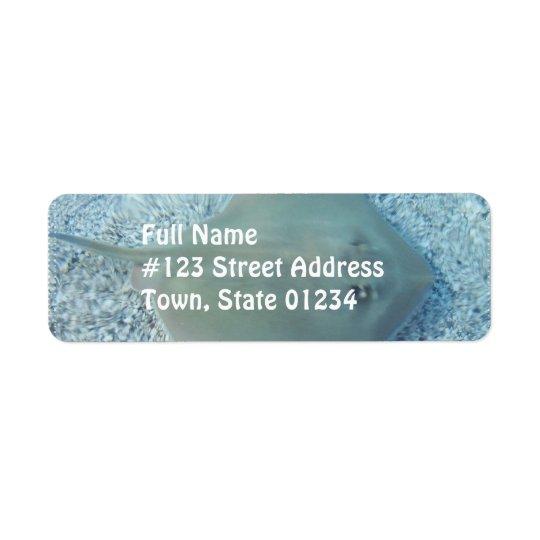 Fresh Water Stingray Mailing Label Return Address Label