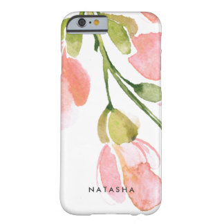 Fresh Watercolor Bloom Personalized Barely There iPhone 6 Case