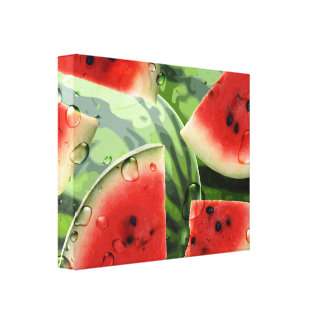 Fresh Watermelon Kitchen Canvas Print