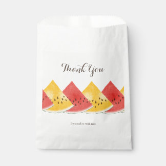 Fresh Watermelon Personalized Favor Bag
