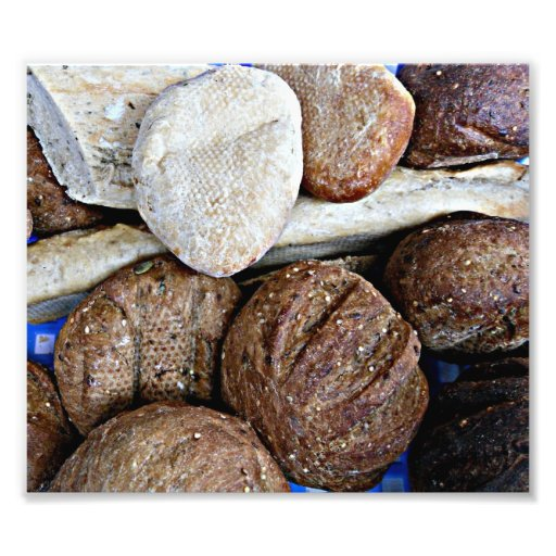Fresh white and brown bread art photo