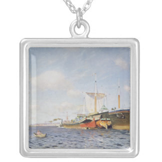 Fresh Wind on the Volga, 1895 Silver Plated Necklace