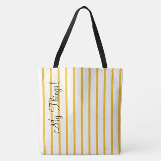 Fresh Yellow Stripes Tote Bag