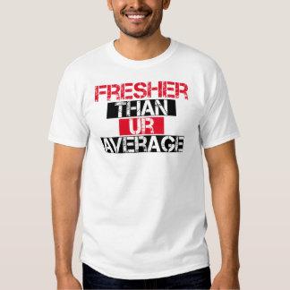 Fresher Than Ur Average - Bred T Shirt