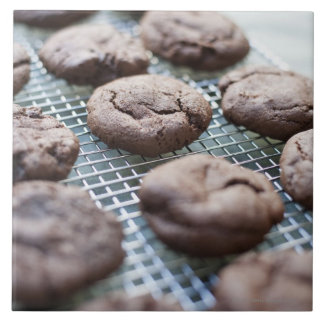Freshly Baked Gluten-free Chocolate Cookies Large Square Tile