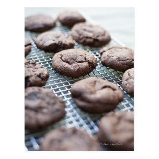 Freshly Baked Gluten-free Chocolate Cookies Postcard