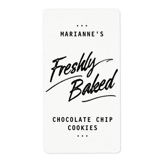 Freshly Baked Personalised Labels