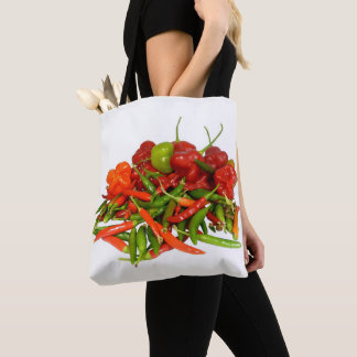 Freshly Picked Chillies All Over Print Tote Bag