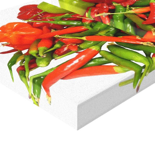 Freshly Picked Chillies Canvas Print