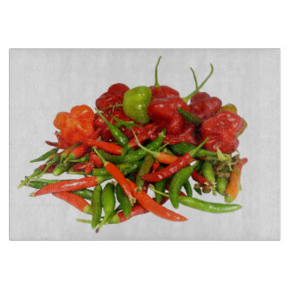 Freshly Picked Chillies Chopping Board