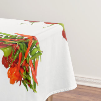 Freshly Picked Chillies Cotton Tablecloth