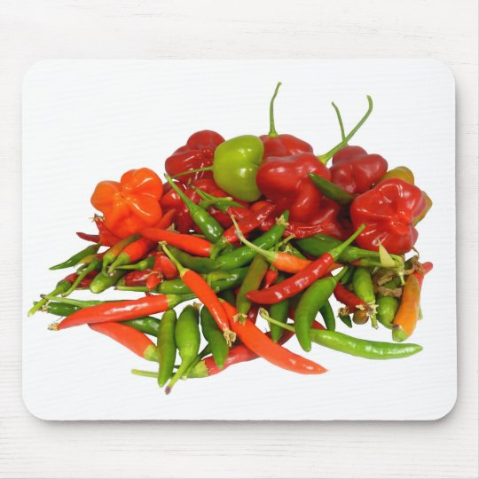 Freshly Picked Chillies Mouse Mat