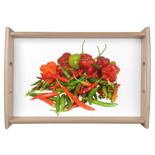 Freshly Picked Chillies Serving Tray