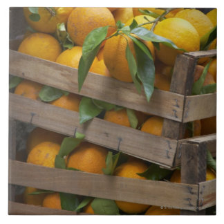 freshly picked oranges tile