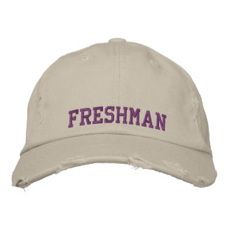 Freshman Embroidered High School/College Cap Embroidered Hats