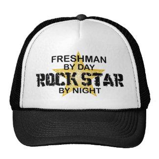 Freshman Rock Star by Night Trucker Hats