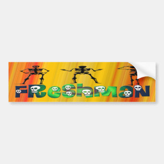Freshman -  Skeletons Bumper Sticker