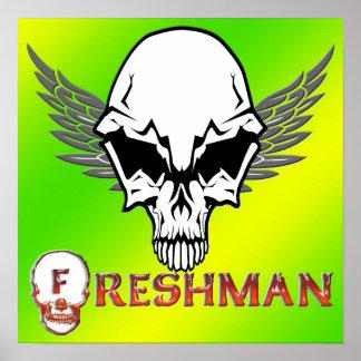 Freshman - Skull Wings Poster