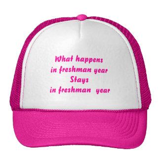 Freshman Year Hats