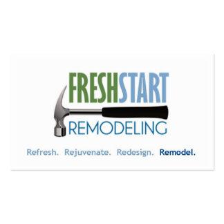FreshStart Remodeling Business Card Template