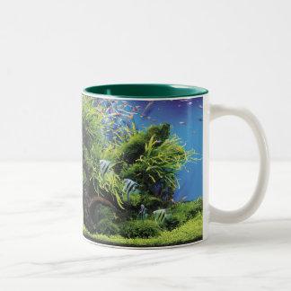 Freshwater Angel Fish Two-Tone Coffee Mug