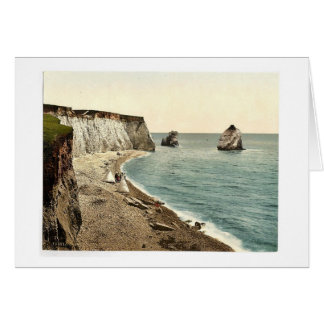 Freshwater Bay Arch and Stag Rocks, Isle of Wight, Card