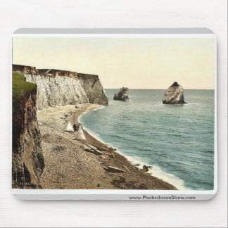 Freshwater Bay Arch and Stag Rocks, Isle of Wight, Mouse Pad