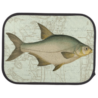 Freshwater Fish on Map Car Mat