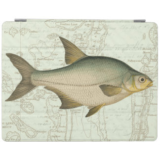 Freshwater Fish on Map iPad Cover