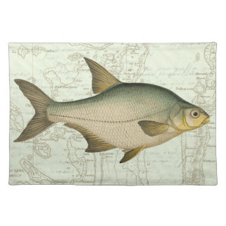 Freshwater Fish on Map Placemat