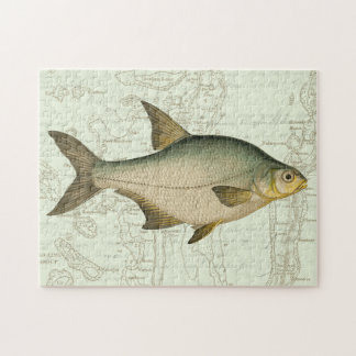 Freshwater Fish on Map Puzzle