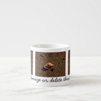 Freshwater Snail Shell; Customizable Espresso Mug