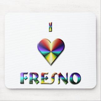 Fresno -- Brown Blue & Gold Mousepad