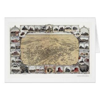 Fresno, CA Panoramic Map - 1901 Card