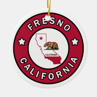 Fresno California Christmas Ornament