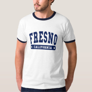 Fresno California College Style tee shirts