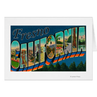 Fresno, California - Large Letter Scenes 2 Card